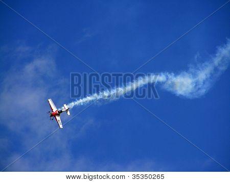 Tukums, Latvia - August 1: Pilot Jurgis Kairys On Su-26 Display At Tukums Airshow Event August 1, 20