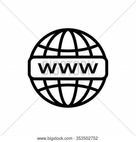 Internet Http Address Icon. Network Www Symbol