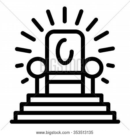 Excellence Armchair Icon. Outline Excellence Armchair Vector Icon For Web Design Isolated On White B