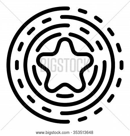 Consumer Star Excellence Icon. Outline Consumer Star Excellence Vector Icon For Web Design Isolated