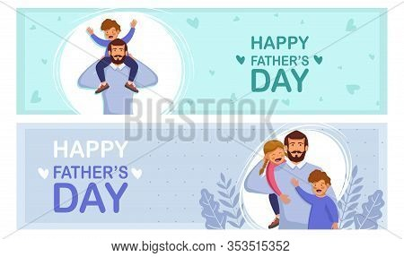 Set greeting cards Happy Fathers Day. Happy International Father's Day. Dad. Father's Day. Father's Day background. Fathers Day poster. Fathers Day illustration. Fathers Day banners. Fathers day Vectors. Fathers Day Vector Illustration. International Fath