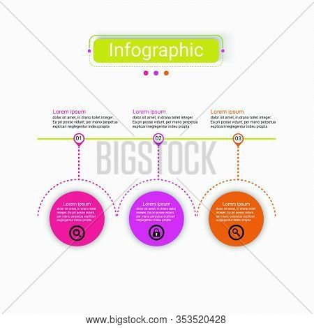 Vector Design Presentation Business Infographic Template With 3 Options. Creative Concept For Infogr