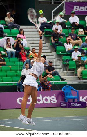 Maria Kirilenko Hitting Serve