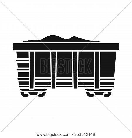 Vector Illustration Of Wagon And Cargo Logo. Web Element Of Wagon And Coal Vector Icon For Stock.