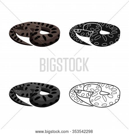 Isolated Object Of Python And Reptile Symbol. Web Element Of Python And Long Vector Icon For Stock.