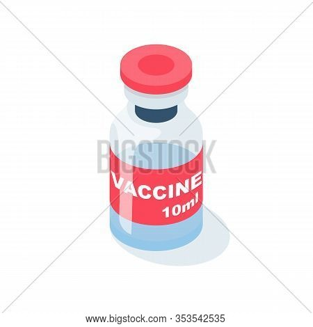Vaccine In Ampoule. Medical Equipment And Drugs. Injection Drugs. Antidote For The Flu. Vector Illus