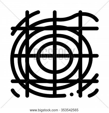 Topographic Landscape Map Icon Thin Line Vector. Topographic Relief Land Scape Territory, Cartograph