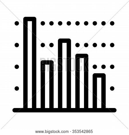 Statistician Infographic Icon Thin Line Vector. Statistician Analytic Info Graphic, Statistic Diagra