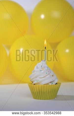 Happy Birthday Cupcakes With Candles