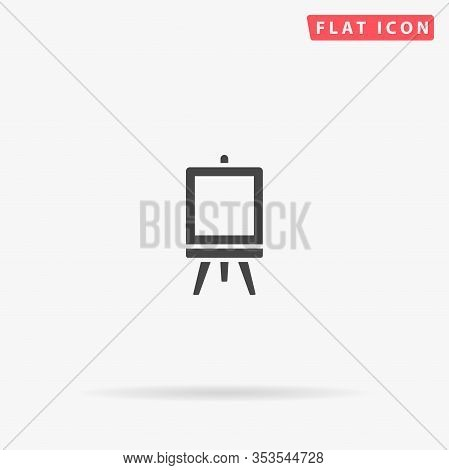 Flipchart Flat Vector Icon. Glyph Style Sign. Simple Hand Drawn Illustrations Symbol For Concept Inf