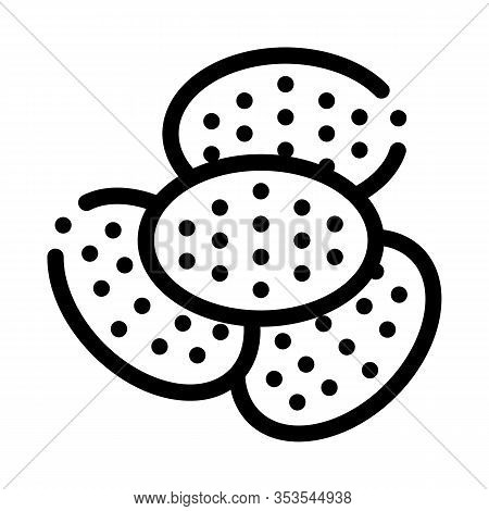 Bakery Cracker Tasty Food Icon Thin Line Vector. Heap Of Cracker Delicious Breakfast Snack Concept L