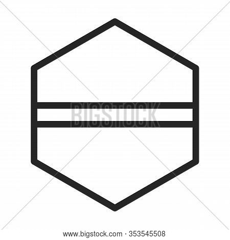 Fastener Head Vector Icon.outline Vector Icon Isolated On White Background Fastener Head.