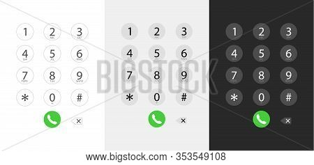Dialing A Number, Keyboard Dialing Interface - Vector Illustration