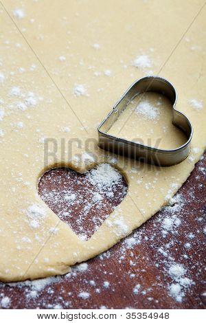 Baking Heart Cookies