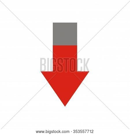 Arrow Company Business Downfall Loss Decrease Failure. Bussines Infographic. Down Arrow Icon, Down A