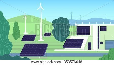 Clean Electric Energy. Turbine, Building Renewable Resources. Modern Electricity, Sun Battery Wind S
