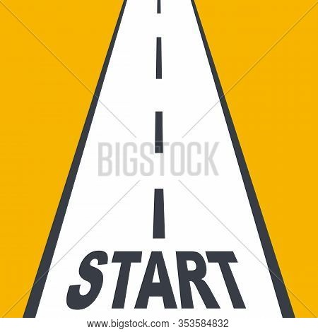 Start Line Highway. Business Planning. Abstract Background Of The Beginning Of The Road. Career Path