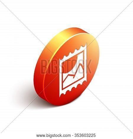 Isometric Lsd Acid Mark Icon Isolated On White Background. Acid Narcotic. Postmark. Postage Stamp. H