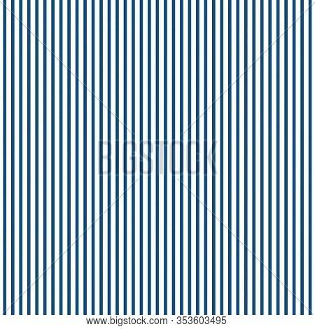 Stripe Pattern. Vector Illustration. Blue And White Background. Vertical Stripes Pattern.