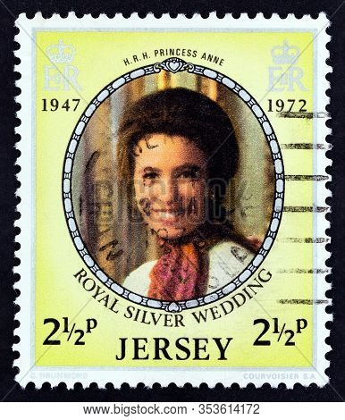 Jersey - Circa 1972: A Stamp Printed In United Kingdom From The
