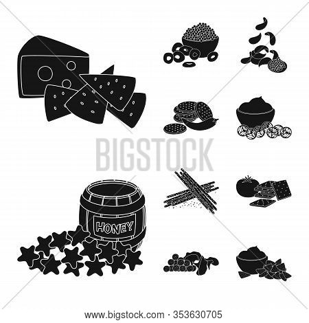 Vector Design Of Ingredient And Organic Logo. Set Of Ingredient And Product Stock Vector Illustratio
