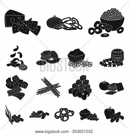 Vector Illustration Of Ingredient And Organic Icon. Collection Of Ingredient And Product Stock Symbo