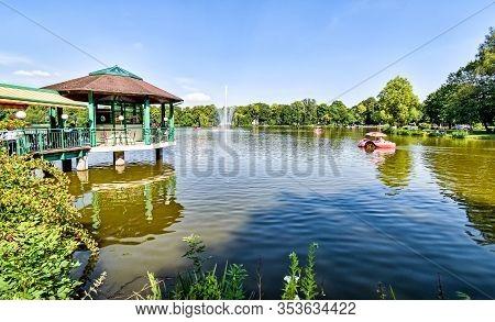 Chemnitz, Germany - July 6, 2017: Pond