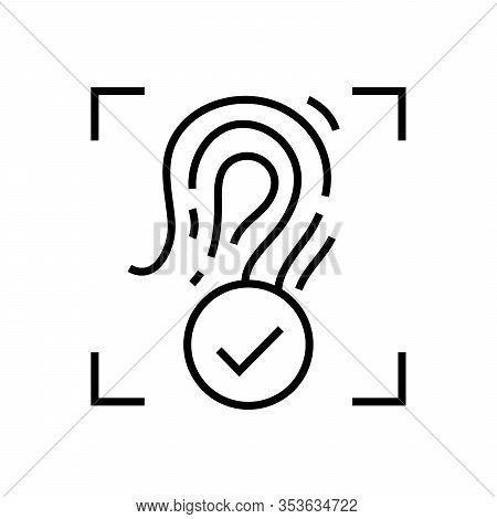 Remark Line Icon, Concept Sign, Outline Vector Illustration, Linear Symbol.