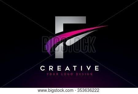 F, Logo, Swoosh, Letter, Design, Creative, Typography, Logo, Corporate, Business, Concept, Vector, S