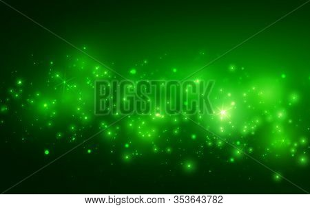 Transparent Christmas Magic Background With Light And Stars Vector