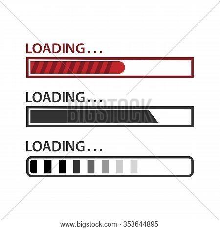 Loading Bar. Loading, Progress. Set Of Load Sign. Uploading Speed Symbol. Update Icon. Installation