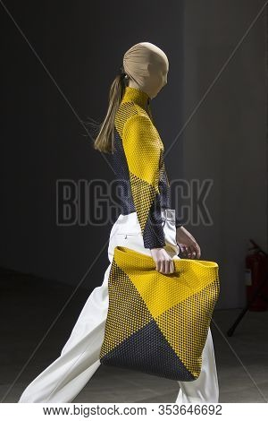 Kyiv, Ukraine - February 1, 2020: Gudu Collection Show During Ukrainian Fashion Week Fw20-21 At Myst