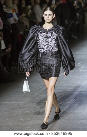 Kyiv, Ukraine - February 1, 2020: Gasanova Collection Show During Ukrainian Fashion Week Fw20-21 At