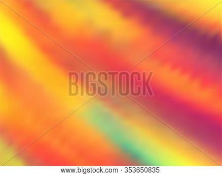 Holographic Gradient Neon Vector Illustration. Mesmerizing Neon Party Graphics Background. Liquid Co