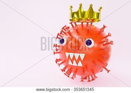 Toon Corona Virus, Visualization Of The Disease Of The Dangerous Bacteria Coronaviridae Medical Trea