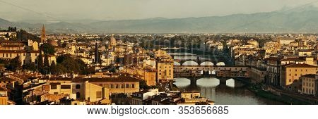 Florence skyline panorama viewed from Piazzale Michelangelo