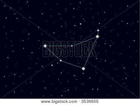 "Vector Illustration Of Constellation \""Capricorn\"""