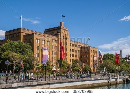 Sydney, Australia - December 11, 2009: Brown Stone Historic Building Of Museum Of Contemporary Art U