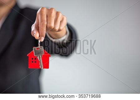 Real Estate Agents Holding House Keys Ideas For Real Estate, Moving Homes, Or Renting Real Estate, M