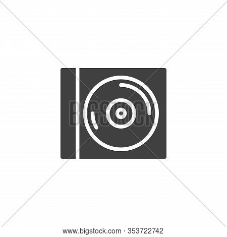 Cd Case Vector Icon. Disc Filled Flat Sign For Mobile Concept And Web Design. Cd Case Glyph Icon. Mu