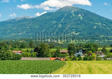 Tyrol village in Austria. The village of Natters in Natters in the Innsbruck-Land in the Austrian state of Tyrol located 3.5 km south of Innsbruck.