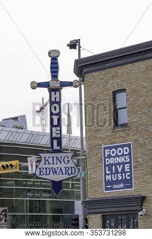March 1 2020 - Calgary Alberta Canada - King Edward Hotel A Historical Landmark In Calgary