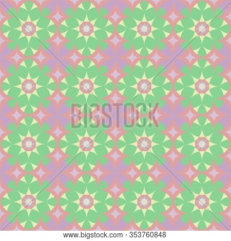 Geometric And Abstract Background With Rombus And Flowers Texture Design, Futuristic Background Patt