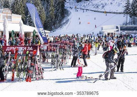 Ski Resort In Bansko. Polyana Banderishka