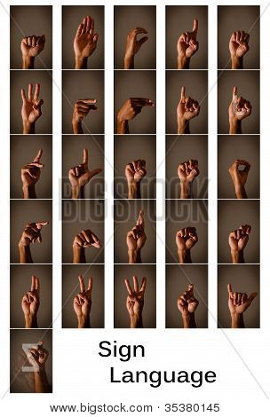 Sign Langauge Alphabet