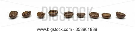 Coffee Beans. Isolated On White A Background