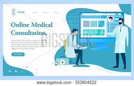 Online Medical Consultation, Experts Telling Diagnosis. Scientists Making Researches And Experiments