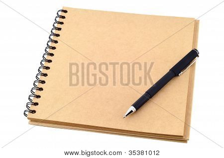 Open Blank Note Book