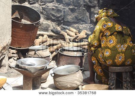 Kitchen and Cooking in Mali, Dogonland, West Africa