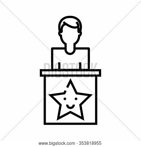 Significant Speech Line Icon, Concept Sign, Outline Vector Illustration, Linear Symbol.
